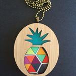 Wooden Pineapple Pendant