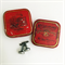 Typewriter-key cufflinks in vintage Keelox tin - black 'asterisk' keys