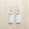 WHITE COLOUR BASICS SIMPLE SILVER CIRCLES TASSEL EARRINGS - FREE SHIPPING