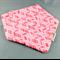 Bandana Dribble Bib - Pink Arrow Geometric