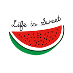 """Life is Sweet"" Original Watermelon Print"