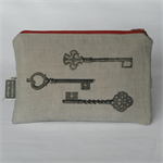 Printed Vintage Keys Purse