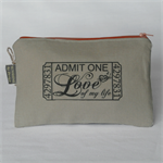 "Printed purse ""romantic cinema ticket"""