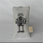 """printed glasses sleeve """"tin robot"""""""