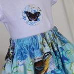 Girls twirly skirt and tshirt set