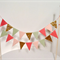Cake Bunting/Cake Topper/Cake Banner/Flags. Coral, Peach, Melon and Gold Glitter