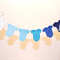 Cake Bunting/Cake Topper. Blue Ombre Baby Onesie. Baby Shower - Gender Reveal.