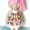 READY TO POST - 2014 Christmas Cloth Doll Flower & lace headband -  Gingerbread