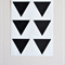 48 Black Triangle Stickers