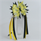 "Pinwheel bow with streamers - ""Bumble Bee"""