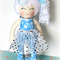 READY TO POST - 2014 Christmas Cloth Doll  -  Snowflakes