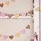 Paper Heart Garland, Peach, Pink and Gold Glitter Hearts - Wedding - Engagement