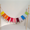 Cake Bunting/Cake Topper/Cake Banner/Flags. String of Pennants. Rainbow.