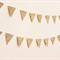 Gold Glitter Flag Garland. Wedding - Engagement - Birthday - Wall Decor.