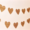 Paper Heart Garland. Gold Glitter Hearts - Wedding - Engagement - 21st - Sweet16