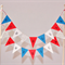 Cake Bunting/Cake Topper/Cake Banner/Flags. God Bless America. Red, White, Blue.