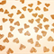 Mini Confetti Hearts. Gold or Silver Glitter. 100 Pieces. Wedding - Engagement.