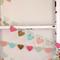 Paper Heart Garland. Gelato. Mint, Brown Sugar, Strawberry, Apricot and Sea Blue