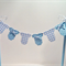 Cake Bunting/Cake Topper Blue Gingham Baby Onesie, Baby Shower - Gender Reveal -