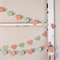 Paper Heart Garland. Peach and Mint. Wedding - Engagement - Home Decor.