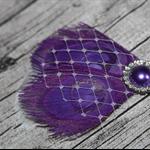 Purple Peacock Clip