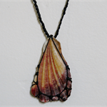 Beautiful shell macrame necklace