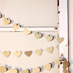 Paper Heart Garland, Gorgeous Gold. Metallic Gold Hearts - Wedding - Engagement