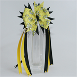 """Pinwheel bow with streamers - """"Bumble Bee"""""""
