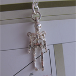 Sterling silver skeleton necklace READY TO SHIP FREE EXPRESS POST IN AUSTRALIA