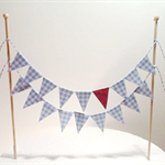 Cake Bunting/Cake Topper.Cake Banner/ Wizard of Oz. Blue Gingham/Red Glitter.