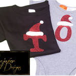 Christmas 3D Initialed Toddler Tee