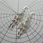 Sterling silver moveable skeleton earrrings READY TO SHIP FREE EXPRESS POST AUS