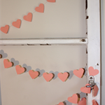 Paper Heart Garland, Apricot. Wedding/Engagement.