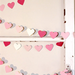 Paper Heart Garland. Pink Ombre. Wedding - Engagement - Sweet 16 - Home Decor.