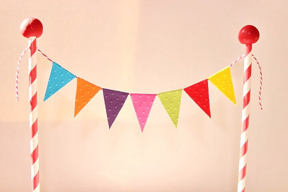 Cake Bunting Topper Banner Flags The Big Top Circus Themed Birthday