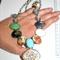 Huge Vintage mixed glass cameo portrait opal Artisan statement necklace