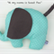 "Large Plush Elephant, Mint & Grey Dot ""Sweet Pea"""