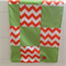 Baby Blanket - Orange & Green - Stripes - Chevron - Free Shipping/Postage