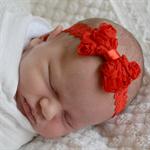 Christmas Bow Headband - Newborn