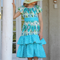 Blue polka dot twirly dress,kids dress,girls dress,childs dress,peasant dress