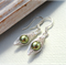 Green Pea In A Pod Silver Earrings