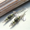 Petite Peas In A Pod Silver Earrings - Shades Of Green