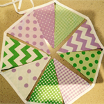 Green/Purple Bunting Flags