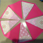 Pink Bunting Flag