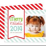 Printable Custom Christmas Photo Card- Santa's Hat