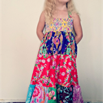Size 5 OOAK Sis Boom Patchwork Maxi Dress