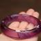 Purple and white swirl resin bangle