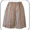 Boys Multi Stripe Long Shorts with Side Pockets