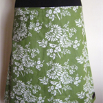 Green & White Skirt with Bamboo Stretch Waist