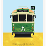 St Kilda Beach - Richmond, Melbourne, Australia Tram 5 x 7 Art Print/Wall Art -